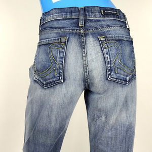 Rock & Republic Distressed Roth Jeans 28 8 M Flare